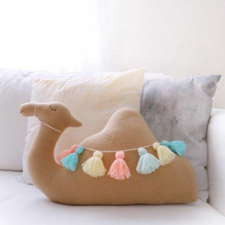 Camel scatter cushion