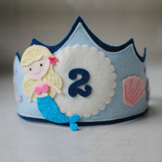 Felt birthday crown for babies