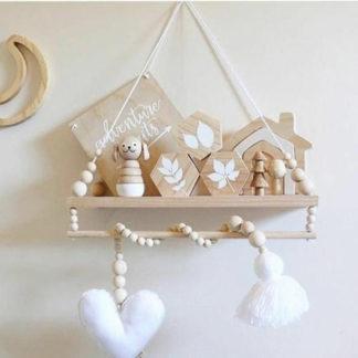 Heart & tassle decor for baby nursery