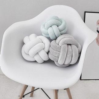 knot cushions for baby nursery