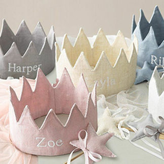 Personalised baby crowns