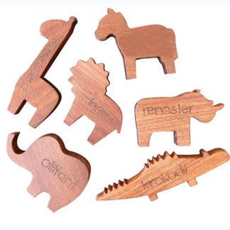 Wooden safari animal toys