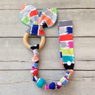 Teether with Safety Tie