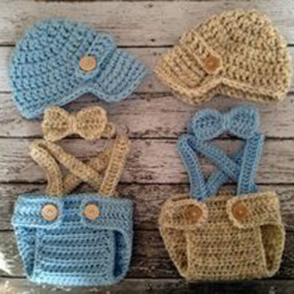 Twin baby boy knitwear props for photography