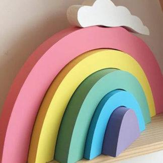 Rainbow stacker for baby nursery