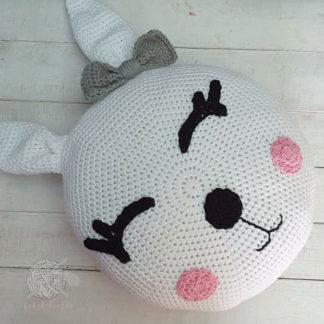 Bunny cushion for baby nursery - handmade and soft