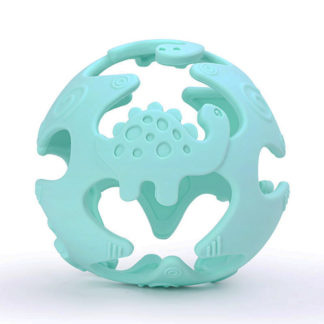 silicone sensory teether - dino ball for baby teether & development