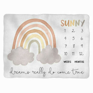milestone blanket for babies with sunny design