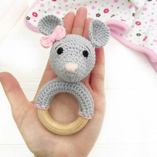 Mouse teether for babies teething problems