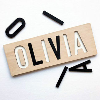 Name puzzle wooden toy for babies