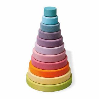 Round stacker toy