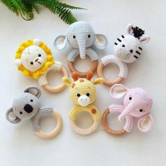 Baby teether - safari animal collection