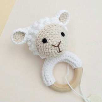 Little lamb teether ring for babies teething problems