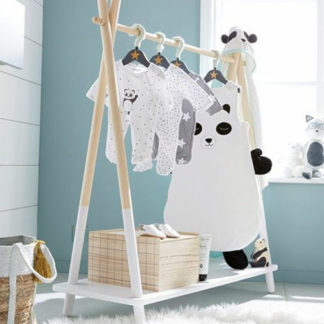 Free standing clothing rail for baby nursery