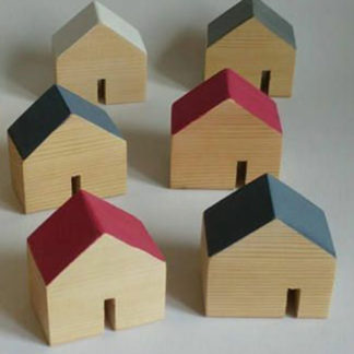 Toy houses - wooden toy city for babies