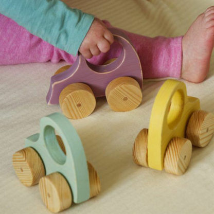 Wooden toy baby cars