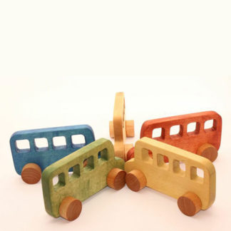 Bus wooden toy for babies to play with